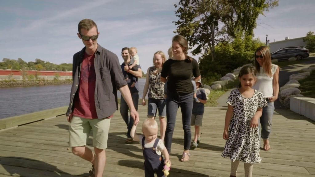 Treehouse Village family on Bridgewater water front